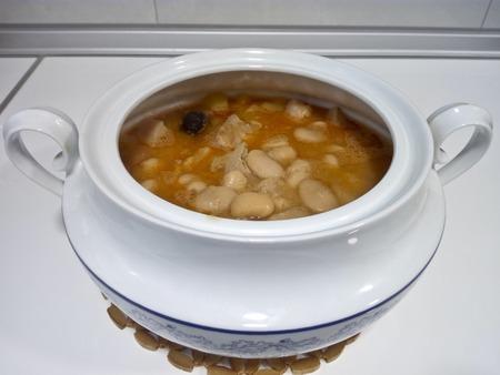 Asturian Fabada, typicall spanish dish