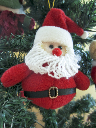 Hanging Santa Claus plush