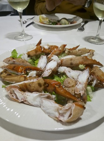 close up view of cooked crabs Imagens