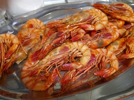 World famous spanish Red prawn of Denia cooked