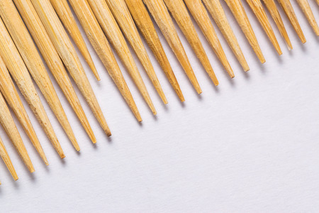 Wooden Toothpick in diagonal composition