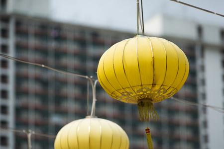 Golden Chinese lanterns Stock Photo