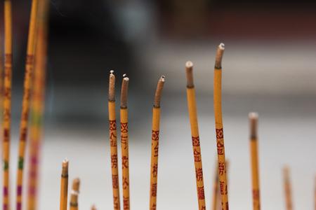 Burn incense in Wong Tai Sin Temple