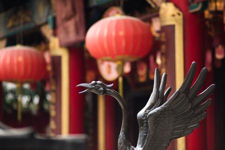 Bird Metal sculpture in Wong Tai Sin, Close up head