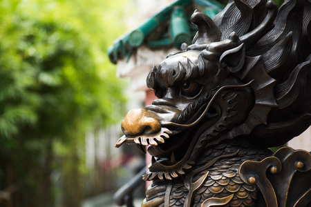 Statue in Wong Tai Sin Temple 스톡 콘텐츠