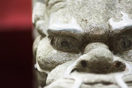Statue in Wong Tai Sin Temple Stock Photo