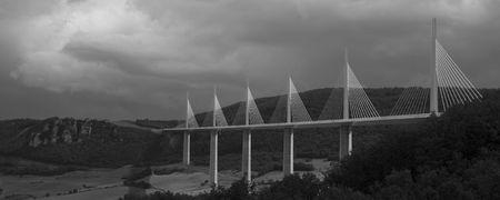 millau: Millau Bridge Monochrome