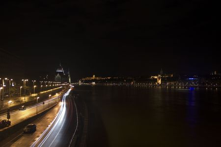 Illuminated Danube photo