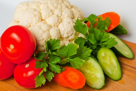 vegetable on the board photo