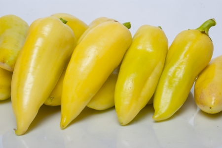 bell peppers: yellow bell peppers om white background