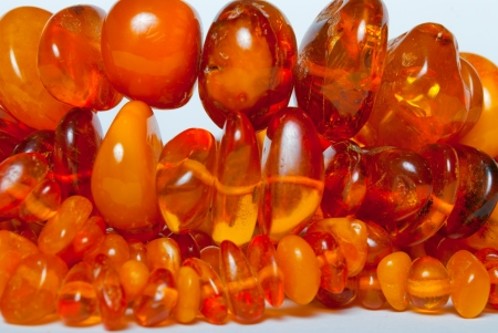 Lot of Vintage genuine Baltic amber beads photo