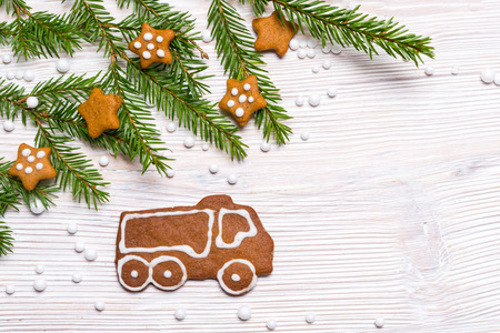 Christmas decoration gingerbread truck