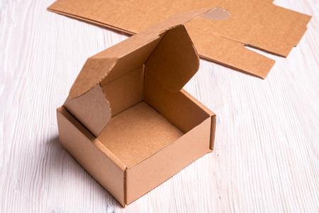 Brown cardboard box Stock Photo