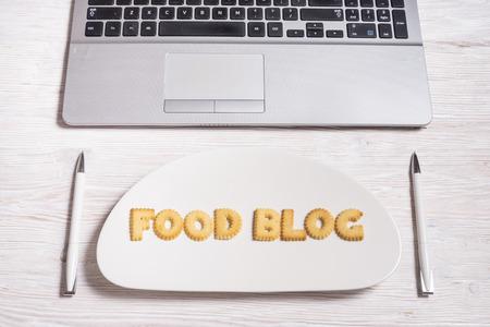 Biscuit letters, food blog
