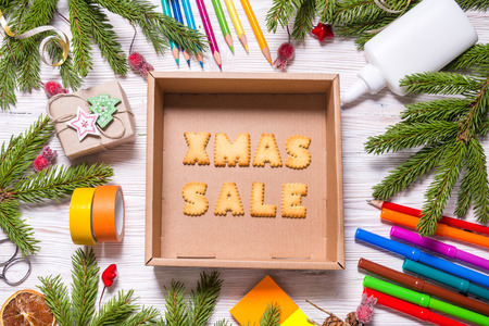 Biscuit letters, Christmas sale