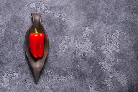 Red fresh mini paprika Stockfoto