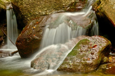 long exposure of a stream in autumn photo