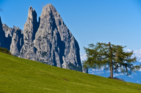 particularly: Seiser Alm, particularly the top Santner - Dolomite, Italy