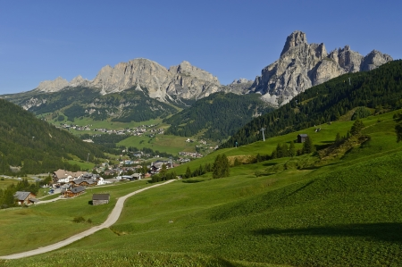 view of the mount alta badia  - Italy