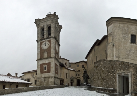 Bell tower and church, Sacred Mount of Varese photo