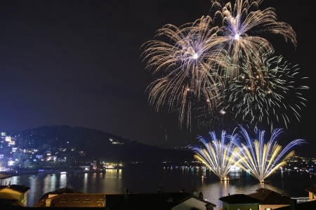 artifice: Fireworks on the Lake Maggiore, Italy