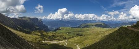 view of Siusi Apl from Denti di Terra Rossa - Italy