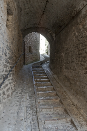 underpass: ancient stairway and underpass between the houses