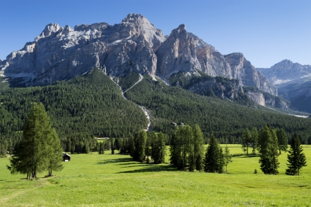 view of the mount of Alta Badia, Dolomites - Italy