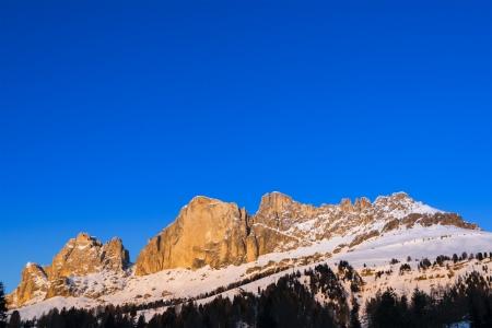 Tramonto sul Catinaccio vicino a Passo Carezza, Dolomiti - Italia