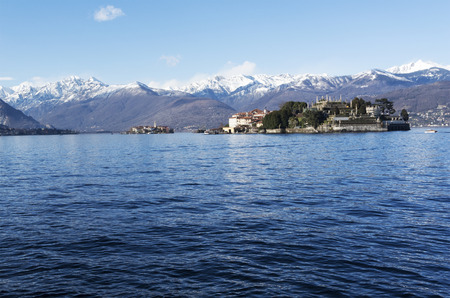 bella: Isola Bella, panoramic view from Stresa, Piedmont - Italy Stock Photo