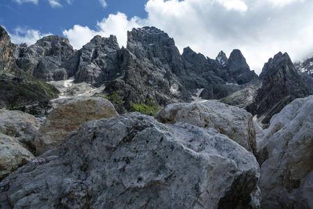 martino: Rugged peaks of the Pale di San Martino, Trentino - Italy