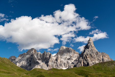 dolomites: Landscape of Pale di San Martino, Trentino - Dolomites, Italy Stock Photo
