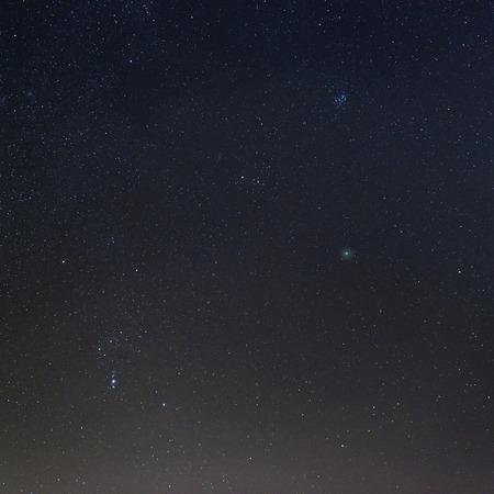comet: Comet C2014 Q2 Lovejoy in the deep sky over Varese Stock Photo