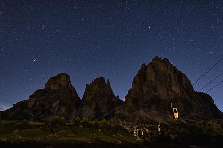 Una sera d'estate al Passo Sella, Dolomiti