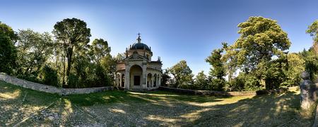 Chapel on the Sacred Way in summer season - Santa Maria del Monte Varese