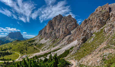 great summer landscape of Cir Group in Alta Badia, Dolomites - Italy