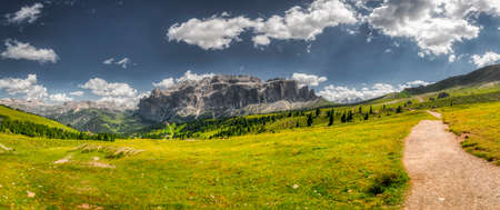 stunning landscape of Dolomites mountain in a bright afternoon, summer season
