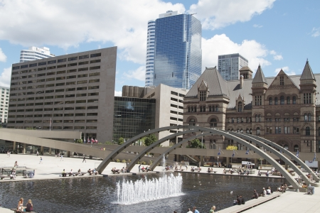 square: Nathan Phillips Square of Toronto