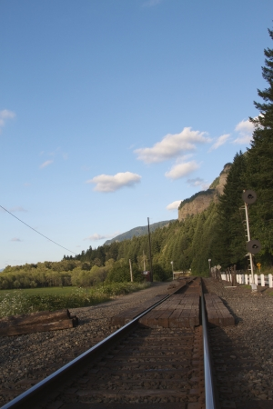A Railroad in State of Oregon along Historic Columbia River Highway