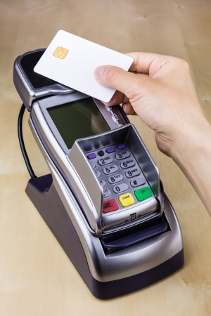 Pay with Smart Card with Contactless Chip photo