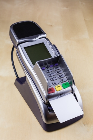 smart card: Pay with Smart Card with Electronic Chip at Pay Terminal