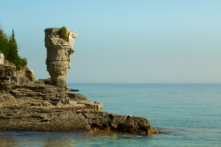 Flowerpot island in Tobermory, Ontario, Canada photo