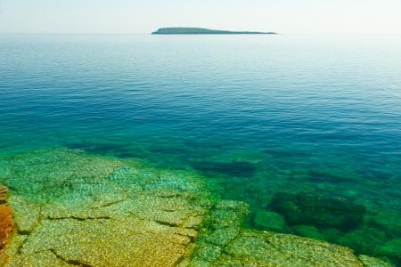 Rocky Shore of Georgian Bay, Bruce Peninsula, Ontario, Canada Imagens