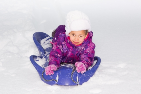 Girl on a Sled photo