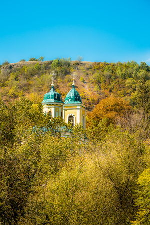 An eastern orthodox church in a remote monastery in eastern europe