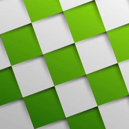 oblique: 3d green oblique squares in square background, background concept