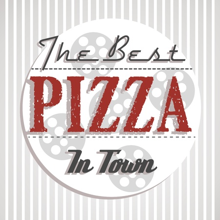 beste pizza poster. pizza begrip Stock Illustratie