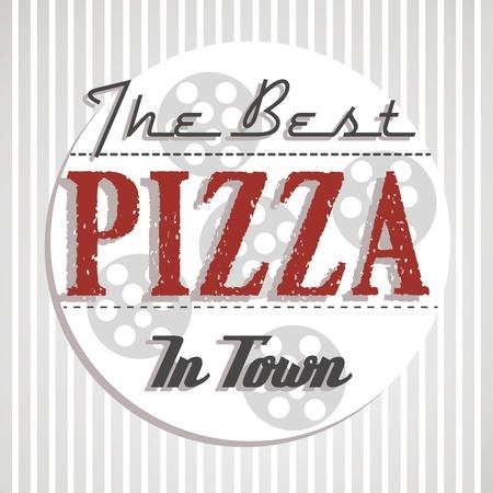 melhor cartaz pizza. conceito de pizza Ilustra��o
