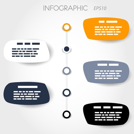 bubble infographic layout with big rings. infographic concept. Stock Vector - 20135872