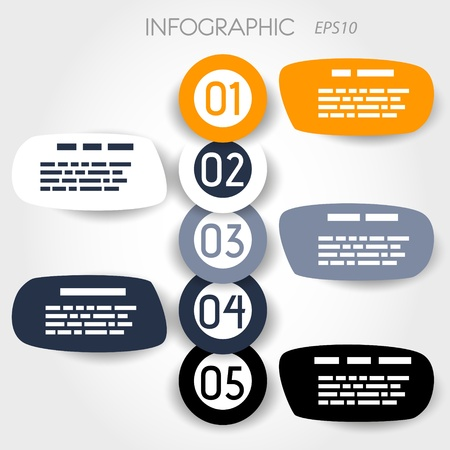 bubble infographic with big rings. infographic concept. Vector